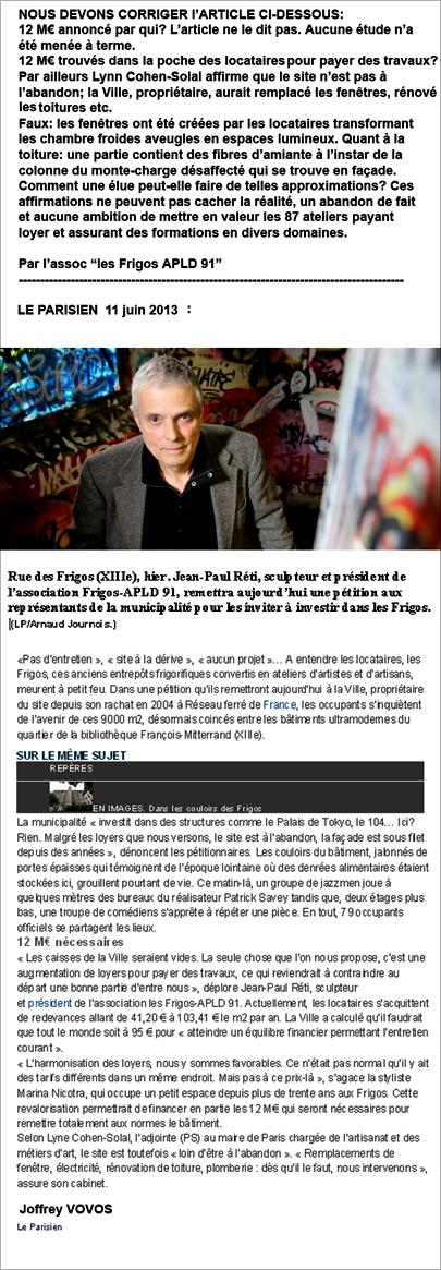 21-ARTICLE le PARISIEN 11 juin 2013