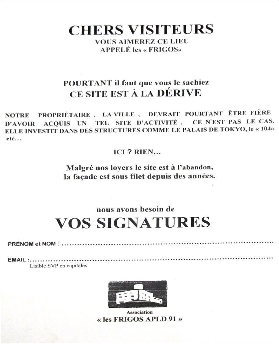 Modele de tract a signer pour les 2000 signataires aux PO